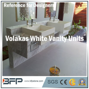 Whole-Set Natural Stone Marble Volakas White Vanity/Bathroom Countertop pictures & photos