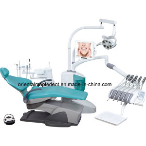 Top Hanging Dental Chair Unit with Dentist Stool pictures & photos