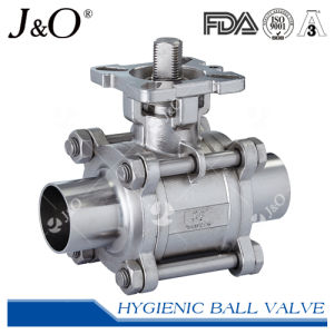 Three-Piece Sanitary T-Clamp Ball Valve with ISO5211 Mounting Pad pictures & photos