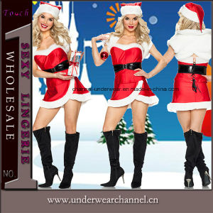 2016 Adult European American Xmas Christmas Dress Sexy Uniforms (TDD80759) pictures & photos