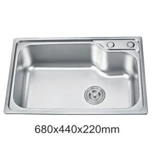 best price ss201 stainless steel single bowl one piece kitchen sink yx6844 - Kitchen Sinks Price
