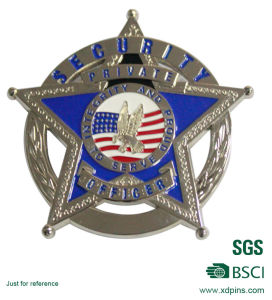 Custom Metal Police Security Officer Honor Star Souvenir Coin (XD-0706-13) pictures & photos
