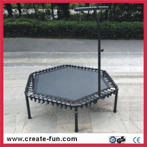 Createfun Adult Indoor Exercise Hexagonal Fitness Trampoline with Handle