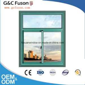 High Quality French Aluminum Modern Design Window/Tempered Glass Window for House pictures & photos