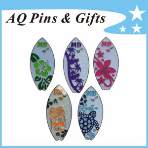 Shiny Metal Skim Board Lapel Pin Badge with Glitter (badge-114) pictures & photos
