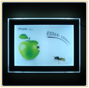 Super Slim Acrylic Frameless LED Advertising LED Light Box (A2) pictures & photos