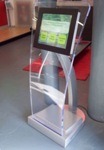 Tablet Display Stand with Locked Enclosure pictures & photos