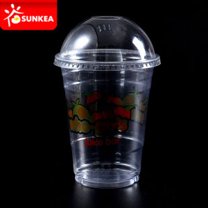 Clear Smoothie Plastic Cup with Dome Lids pictures & photos