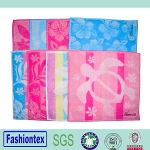 Cotton Jacquard Towel/Square Towel pictures & photos