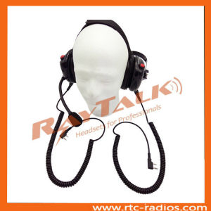 Walkie Talkie Industrial Noise Cancelling Headset with 2 XLR Jack pictures & photos