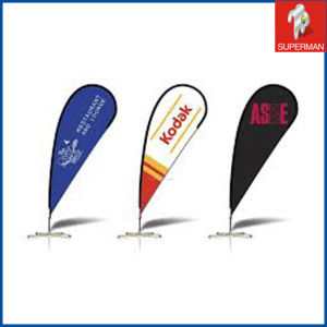 Custom Cheap Polyester Flag for Advertising, Teardrop Beach Flag (SM050088)