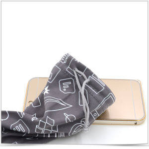 Full Color Printed Microfiber Mobile Phone Pouch pictures & photos