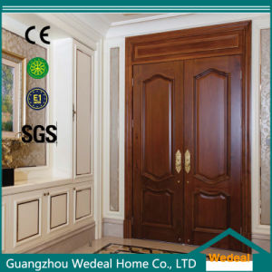 Classic Double Solid Wooden Interior Door for Room (WDB02) pictures & photos