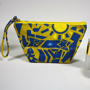 Promotional Custom Printed Canvas Cosmetic Bag Makeup Bag pictures & photos