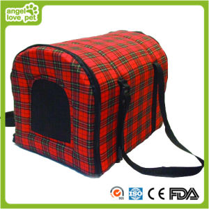 Red and Black Lattice Pet Carrier pictures & photos
