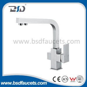 Two Handle Kitchen Sink Water Filter Tri Flow Mixer Faucet pictures & photos