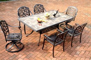 7 PC Dining Set Cast Aluminum Furniture for Garden pictures & photos