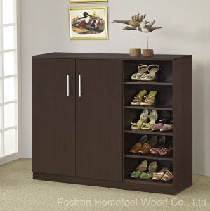 Wooden Shoe Cabinet Storage Shelves Furniture (HF-EY08182) pictures & photos