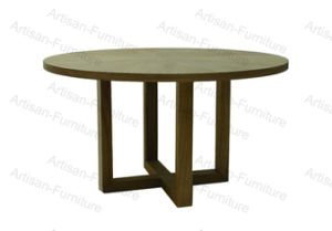 Hand Painted Circular Luxury Solid Tree Modern Restaurant Dining Table