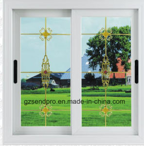 Cheap Price Tempered Glass PVC Sliding Window for House Decoration