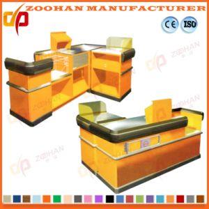 L Shape Cashier Checkout Counter Table for Shop Supermarket (Zhc28) pictures & photos