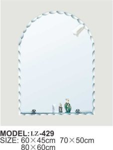 Bathing Supplies Makeup Mirror Bathroom Mirror Cabinet with Shelf (LZ-429) pictures & photos