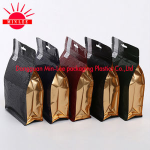 Flat Bottom Bag FDA Nuts/Peanuts Square Bottom Pouch with Butterfly Hole pictures & photos