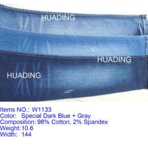 Newest Hot 98% Cotton 2% Spandex Jeans Denim Fabric (W1133) pictures & photos