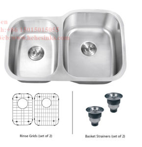 """33-1/2""""X21"""" Stainless Steel Under Mount Double Bowl Kitchen Sink with CSA Certification pictures & photos"""