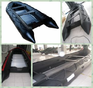 Military Black 4.6m Inflatable Fast Rescue Boat pictures & photos