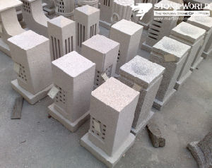 Natural Grey Granite Stone Lantern for Outside Garden (LAL09) pictures & photos