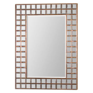 Contemporary Copper Plated Framed Wall Mirror for Home Decoration Accessory pictures & photos