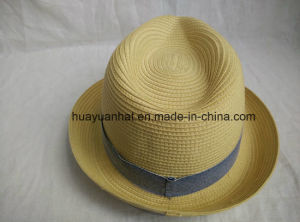 100% Polyester Leisurely Style with Natural Color Fedora Hats pictures & photos