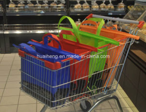 Hot Sale Grocery Trolley Bag Reusable Supermarket Shopping Cart Bag pictures & photos