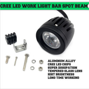 10W 1000lm Round CREE LED Work Light Spot Flood Beam pictures & photos