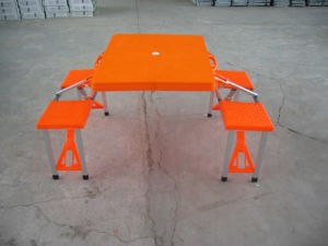 ABS Plastic Garden BBQ Folding Camping Picnic Table pictures & photos