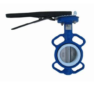D71f4 Wafer Type Fluorine Lining Butterfly Bamper Valve pictures & photos