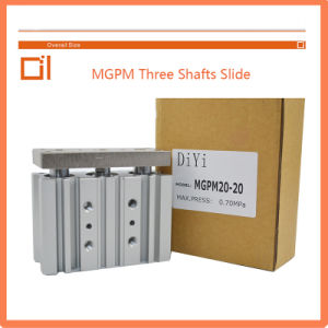 Mgpm 50type Three Shafts Slide Cylinder Pneumatic Cylinder pictures & photos