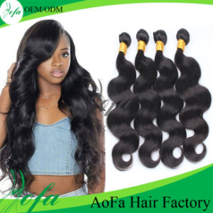 Unprocessed Top Quality Body Wave Virgin Brazilian Human Hair Extensions pictures & photos