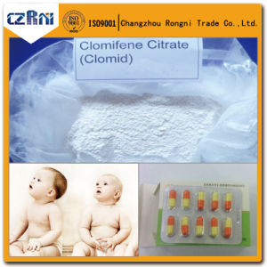 Factory Supply Clomifene Citrate Antiestrogen Pure Raw Clomid Serm Sources pictures & photos