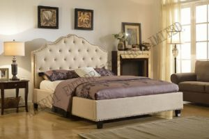 Fabric Bedroom Beige Modern Popular Bed pictures & photos
