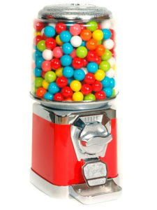 Round Gumball & Candy Vending Machine with Spill Tray (TR618R-A) pictures & photos
