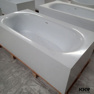 Rectangular Solid Surface Marble Double Apron Bathtub (BT170906) pictures & photos