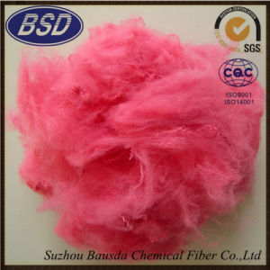 Regenerated Colored Polyester Staple Fiber PSF for Automotive Interior Use pictures & photos