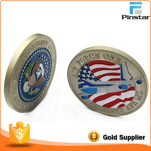 Customized 3D Eagle USA Flag Wholesale Price Old Gold Coin pictures & photos