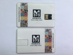 Transparent Wafer Business Card USB Flash Drive with Sticker pictures & photos