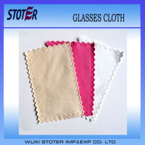 OEM Custom and Super Soft Microfiber Suede Glasses Cleaning Cloth pictures & photos