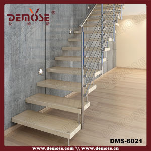 Modern Steel Wire Balustrade Stairs (DMS-6021)