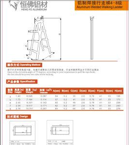 Walking Aluminium Ladder Aluminium Ladder Profile pictures & photos