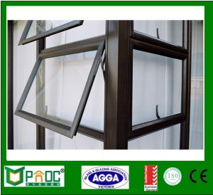 Australian Standard Aluminum Top Hung Windows with Grill Design pictures & photos